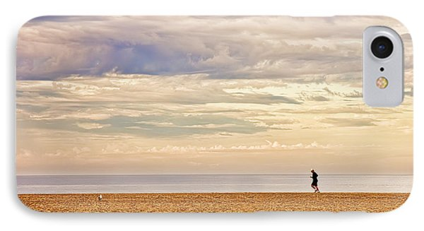 Beach Jogger IPhone Case by Chuck Staley