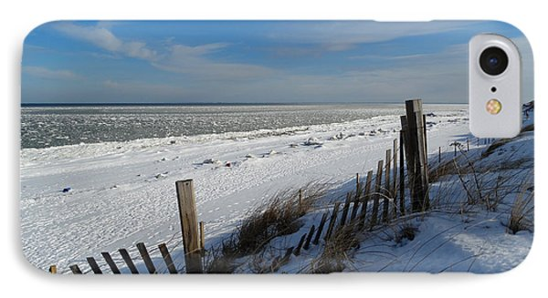 Beach On A Winter Morning IPhone Case