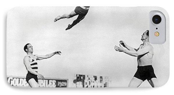 Beach Performers Toss Woman IPhone Case by Underwood Archives
