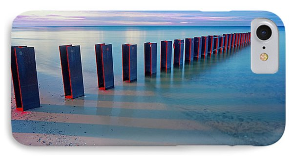 Beach Pylons At Sunset IPhone Case