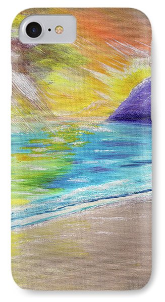 IPhone Case featuring the painting Beach Reflection by Thomas J Herring