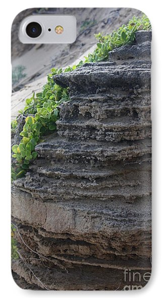 IPhone Case featuring the photograph Beach Rocks And Vines by Amanda Holmes Tzafrir