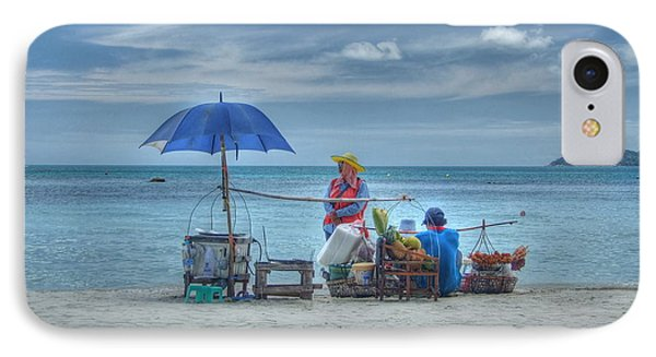 Beach Sellers IPhone Case by Michelle Meenawong