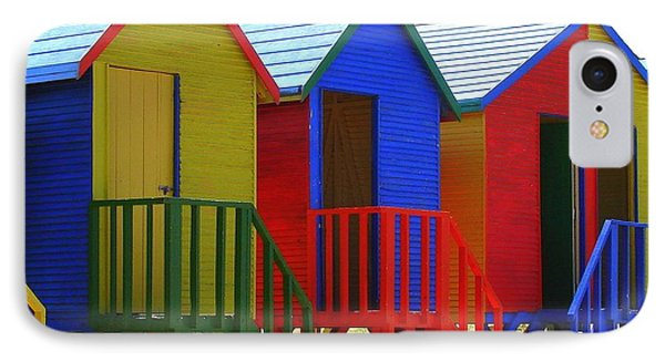 IPhone Case featuring the photograph Beach Shacks by Ramona Johnston