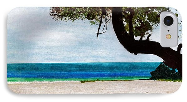 IPhone Case featuring the drawing Beach Side by D Hackett
