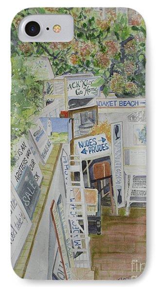 Beach Signs IPhone Case by Carol Flagg