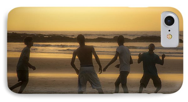 Beach Soccer At Sunset IPhone Case