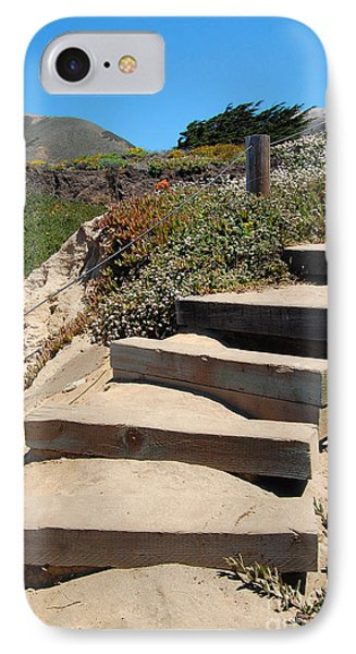 IPhone Case featuring the photograph Beach Stairs Big Sur by Debra Thompson