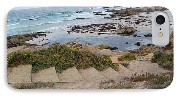 IPhone Case featuring the photograph Descending To The Beach Monterey by Debra Thompson