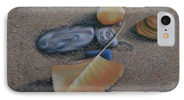 IPhone Case featuring the painting Beach Still Life IIi by Pamela Clements