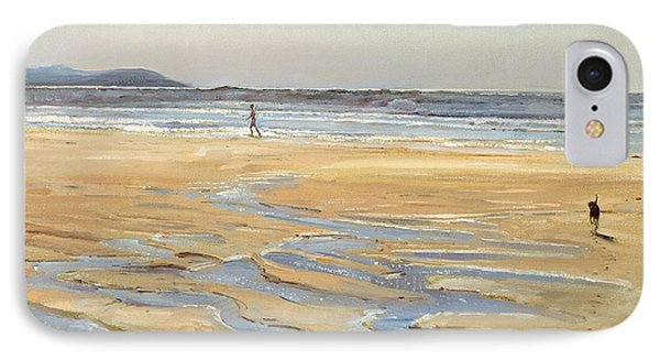 Beach Strollers  IPhone Case by Timothy  Easton