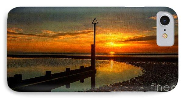 Beach Sunset Phone Case by Adrian Evans