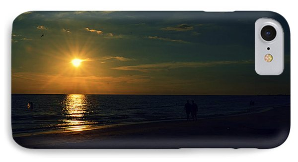 Beach Sunset Afternoon Walk IPhone Case by Patricia Awapara
