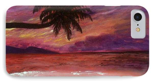 Beach Sunset IPhone Case by Debbie Baker