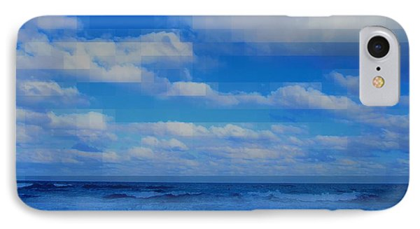Beach Through Artificial Eyes IPhone Case