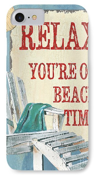 Beach Time 1 IPhone Case by Debbie DeWitt