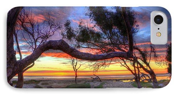 Beach Tree Sunset View IPhone Case