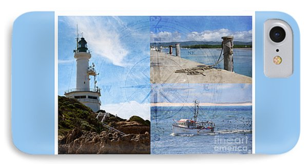 Beach Triptych 2 IPhone Case by Linda Lees