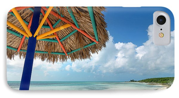 Beach Umbrella At Coco Cay Phone Case by Amy Cicconi