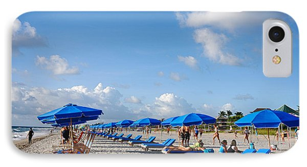 Beach Umbrellas IPhone Case by Don Durfee