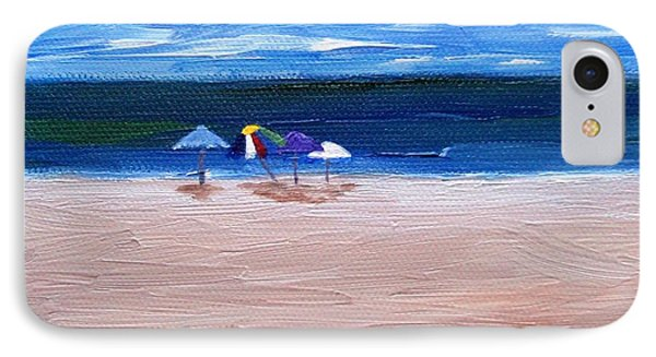 IPhone Case featuring the painting Beach Umbrellas by Jamie Frier