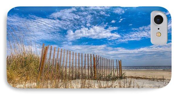 Beach Under Blue Skies Phone Case by Debra and Dave Vanderlaan