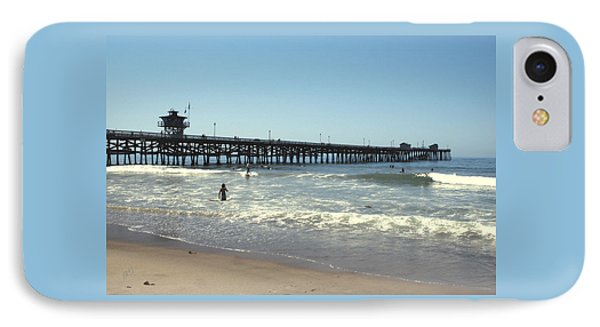 Beach View With Pier 2 Phone Case by Ben and Raisa Gertsberg