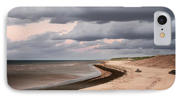Beach View With Storm Clouds IPhone Case by Elena Elisseeva