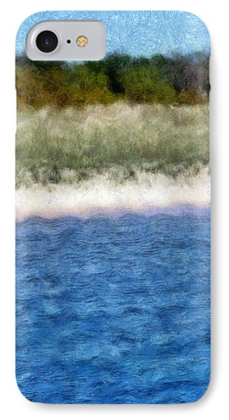 Beach With Short Dune Phone Case by Michelle Calkins