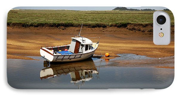 Beached Boat In River Estuary IPhone Case