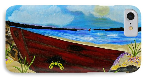 IPhone Case featuring the painting Beached by Celeste Manning