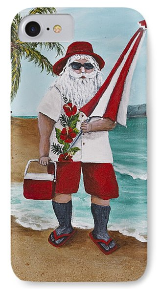 Beachen Santa Phone Case by Darice Machel McGuire