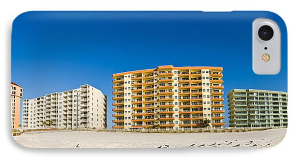 Beachfront Buildings On Gulf Of Mexico IPhone Case by Panoramic Images