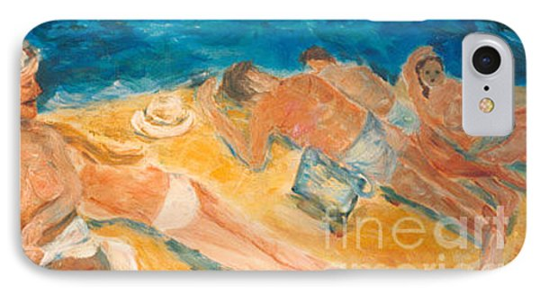 IPhone Case featuring the painting Beachscape   by Fereshteh Stoecklein
