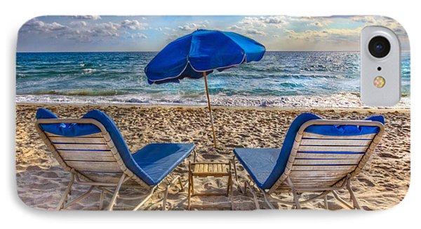 Beachtime Blues IPhone Case by Debra and Dave Vanderlaan