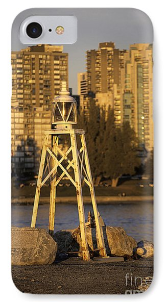 Beacon And Skyscrapers In Vancouver Canada IPhone Case by Ryan Fox