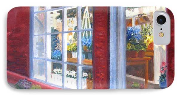 Beacon Hill Flower Shop IPhone Case by Claire Norris