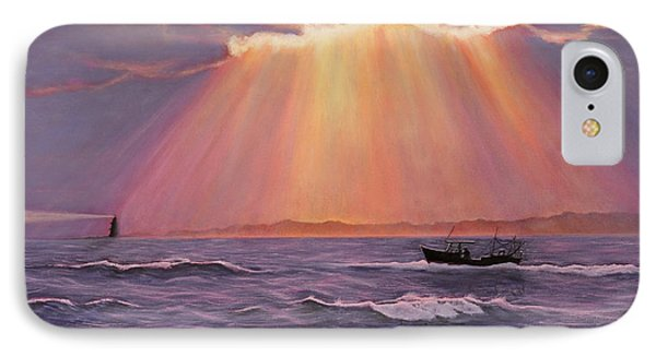IPhone Case featuring the painting Beacons Of Light by Cindy Lee Longhini