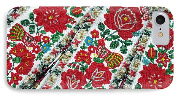 Hungarian Beaded Emboidery From Kalotaszeg Photograph Print IPhone Case by Andrea Lazar