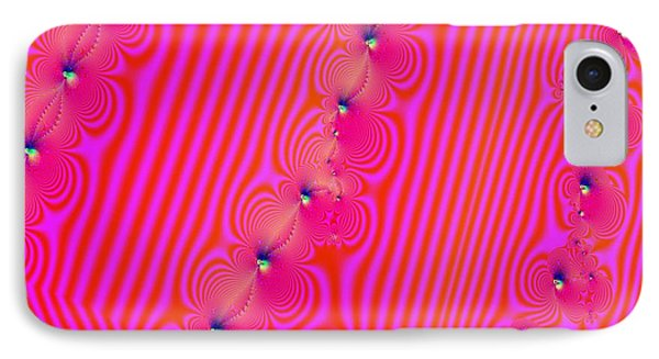 IPhone Case featuring the digital art Beaded Pink by Luther Fine Art