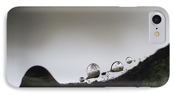 Beads Of Rain With Particles Floating Phone Case by Dan Friend