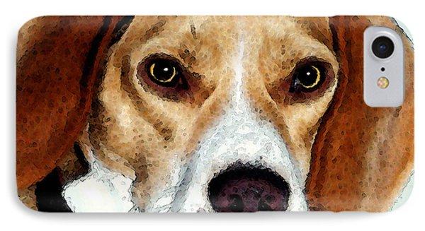 Beagle Art - Eagle Boy Phone Case by Sharon Cummings