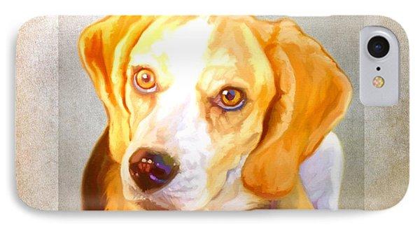 Beagle Art IPhone Case by Iain McDonald