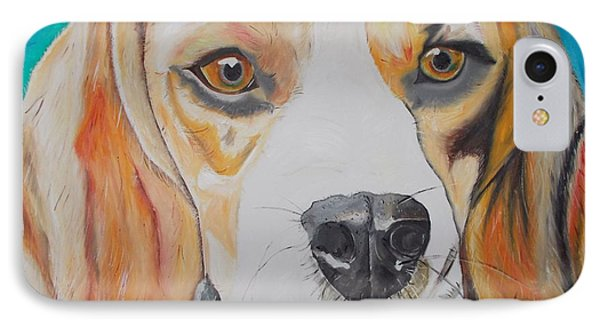 IPhone Case featuring the painting Beagle by PainterArtist FIN
