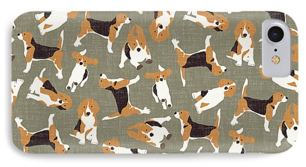 Beagle Scatter Stone IPhone Case