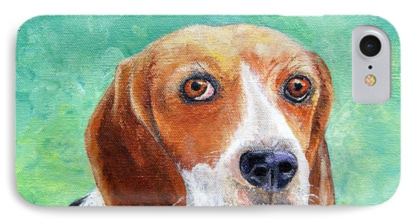 IPhone Case featuring the painting Beagles Rock by Terry Taylor