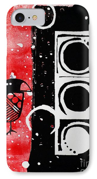 Beak In Red And Black IPhone Case by Cynthia Lagoudakis