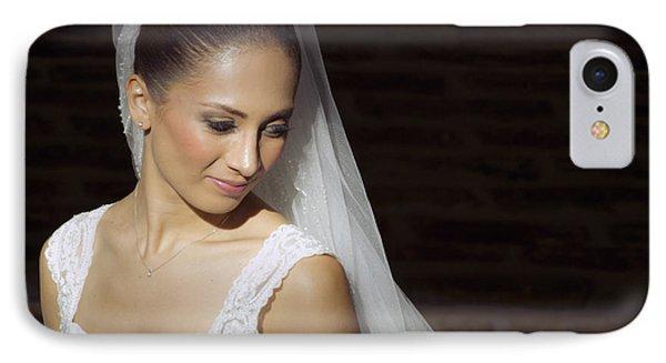 Beaming Bride IPhone Case