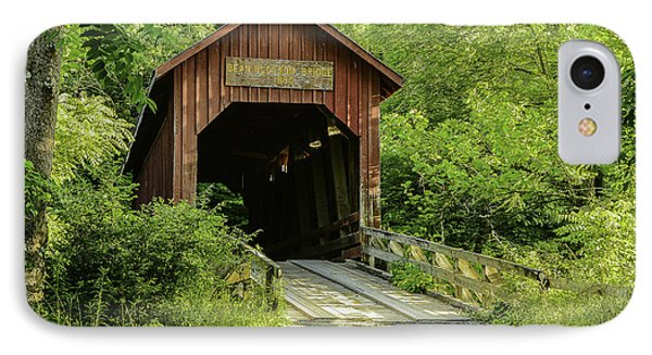 Bean Blossom Covered Bridge IPhone Case by Mary Carol Story