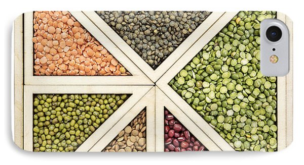 Beans And Lentils Abstract IPhone Case by Marek Uliasz